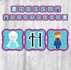 Elsa Banner/Elsa Birthday Banner/Frozen Banner/Elsa Party/Elsa Birthday/Disney Frozen Banner/Frozen Theme/Frozen Decor/Elsa Birthday Sign/ by DianasDen on Etsy
