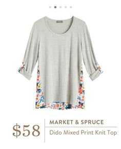 Market & Spruce Dido Mixed Print Knit Top - I'm a sucker for mixed prints and this looks like a fun spring top