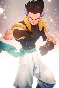 Dragonball Z Older Gotenks. Love the art style.