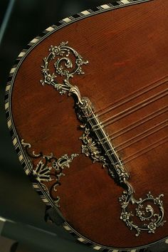 .Ornate musical instrument