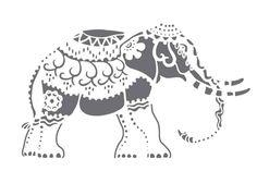 Elefant auf Lasergeschnittene Schablone durch PearlDesignStudio auf Etsy