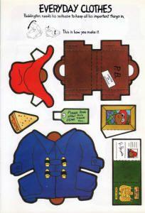 Paddington Bear clothes template