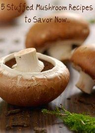 5 Stuffed Mushroom Recipes to Savor Now... #Artsandcrafts