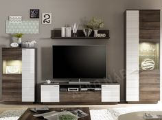 Obývací stěna RELIEF 3 Hanging Cabinet, Tv Furniture, Diy Home Decor, Rustic, Living Room, Bedroom, Interior, Wall, Tv Units