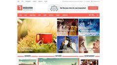 Resolution Free Magazine WordPress Theme from kopatheme