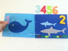 Educational Quiet Book Counting Ocean Book by EmaDecorations