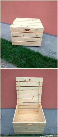 Diy Wooden Pallets Storage Box