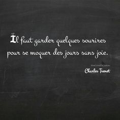 Il faut garder quelques sourires pour se moquer des jours sans joie. ✒️ Charles Trenet Happy Halloween #citation #citations #citationdujour #citationoftheday #extrait #frenchquote #inspiration #inspirational #instacitation #instamood #instaquoteoftheday #instadaily #instaphoto #mots #pensee #penseedujour #phrase #poesie #poetry #poetrycommunity #positive #quotestagram #quote #quotes #textgram #livre #book #tableauxcitations #charlestrenet