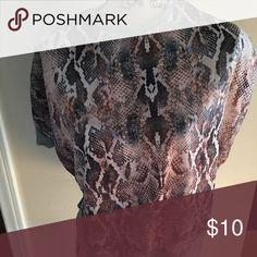 Zara t-shirt Snake skin design. Gray at the side and back Zara Tops Tees - Short Sleeve