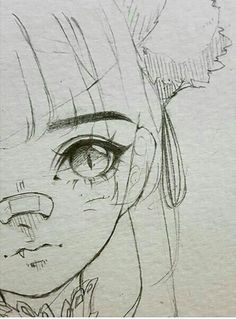 Introduction to Pencil Drawing Supplies & Techniques Cute girl with pony tail and nose bandage anime chibi eyes bangs Anime Drawings Sketches, Cool Art Drawings, Anime Sketch, Manga Drawing, Drawing Ideas, Nose Drawing, Pencil Drawings, Hipster Drawings, Drawing Poses