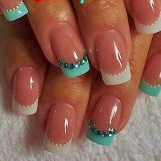 + Carolina Estilo +: Nail Art/Uñas French Manicure