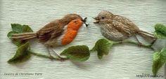Amazing embroidered birds with stumpwork Gallery.ru / Photo # 93 - Inspiration