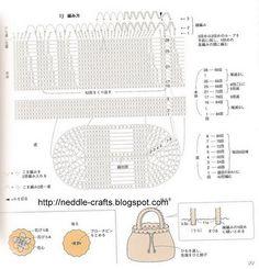 شنطه كروشيه جميله بالباترون - pretty crochet bag with patterns ~ شغل ابره NEEDLE CRAFTS