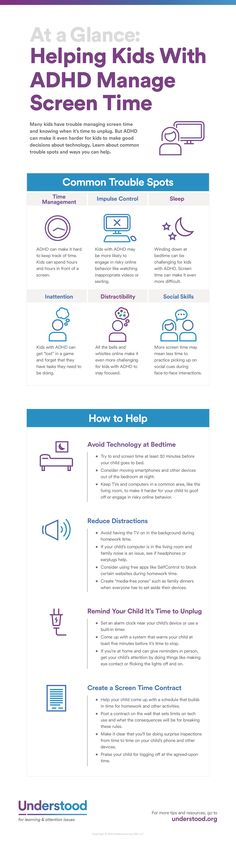 Graphic of At a Glance: Helping Kids With ADHD Manage Screen Time