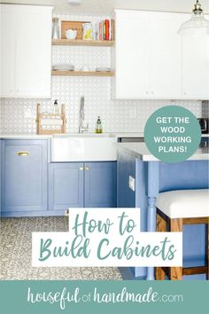 Need new kitchen cabinets?! Learn how to build cabinets yourself to save you money on your next remodel. #KitchenCabinets #DIY #KitchenDesign Kitchen On A Budget, Home Decor Kitchen, Diy Home Decor, Kitchen Design, Decor Crafts, New Kitchen Cabinets, Built In Cabinets, Diy Cabinets, Diy Kitchen Remodel