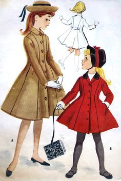1950s Girls Princess Coat Vintage Sewing by MissBettysAttic, $8.00
