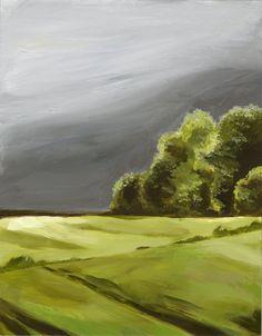Summer Storm Original Landscape Painting by ShadyRill on Etsy