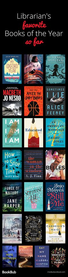 A great reading list of books recommended by librarians, including books for women, men, and teens, thriller books, romantic books, mysteries, twisty novels, and more.