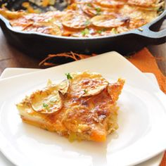 Sweet Potato Parmesan Gratin! So delicious and much healthier than other gratins.