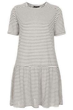 Stripe Drop Waist Tunic - Tops  - Clothing