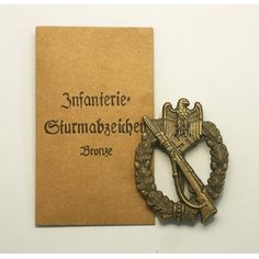 High Quality Infantry Assault Badge in Bronze(MM:RS) For Sale