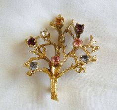 Sterling Tree of Life  Brooch Sterling by MaisonChantalMichael
