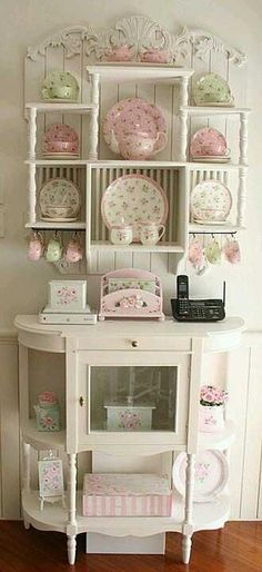 A nice little Kitchen Hutch. The Best of shabby chic in 2017.