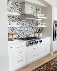 "Cement Tile Shop on Instagram: ""Happy July 4th! We hope you have a great day with family and friends and get to cook up some great American fare in a kitchen like this…"""