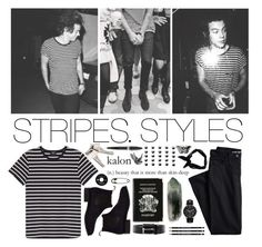 """stripes. styles"" by britland-hall ❤ liked on Polyvore featuring A.P.C., Lands' End, Prada, Georg Jensen, Boohoo, Aspinal of London, Other, Pineider, Burberry and men's fashion"