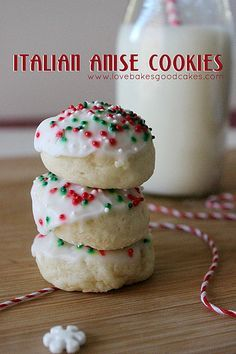 Bite into a classic Italian favorite, Anise Cookies this holiday season. These festive cookies always make the holiday cookie baking list and for a good reason. Italian Anise Cookies, Italian Ricotta Cookies, Christmas Desserts, Christmas Treats, Christmas Baking, Holiday Treats, Xmas Food, Christmas Foods, Holiday Foods