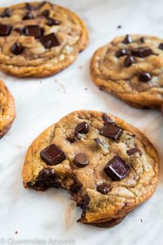 These cookies are the absolute best! They're incredibly soft, chewy and delicious - and best of all they're loaded, I mean LOADED with chocolate chips AND chocolate chunks! The perfect chocolate chip cookie. Best Chocolate Chip Cookie Recipe Ever, Perfect Chocolate Chip Cookies, Chocolate Chips, Fun Desserts, Delicious Desserts, Dessert Recipes, Yummy Food, Healthy Food, Tasty