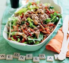 Dairy free - Diabetic friendly - Gluten free - Low fat - Mixed bean and tuna salad Healthy Tuna Salad, Healthy Food, Healthy Recipes, Healthy Meals, Healthy Anzac Biscuits, Thai Fish Cakes, Zucchini Fritters, Cooking For One, Chickpea Salad