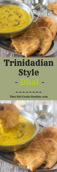 Trinidadian style dhal recipe - Learn how to make this simple Trinidadian style seasoned dhal made from split peas and serve with rice or flatbread. Indian Food Recipes, Vegan Recipes, Cooking Recipes, Lentil Recipes, Vegan Food, Soup Recipes, Tasty Vegetarian, Puerto Rico, Trinidad Recipes