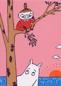 Moomin & Little My. Little My Moomin, Moomin Wallpaper, Moomin Valley, Tove Jansson, Children's Book Illustration, Fairy Tales, Kawaii, Drake, Animation