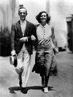 Fred Astaire and Joan Crawford set pictures from Dancing Lady