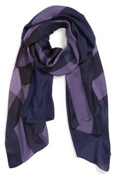 Autumn classic | Burberry check print scarf.