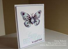 Watercolor Wings, Happy Birthday Everyone, Dena Rekow, The Creativity Cave. #stampinup