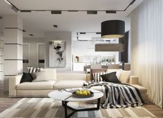Create Luxurious Living Room With Abstract Wall Decoration