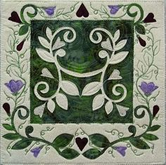 Vines and Flowers Art Quilt