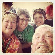 "Looks like the representatives from Michigan Irish Music Festival, Penn-Mar Irish Festival and Syracuse Irish Festival all enjoyed their ""research"" during the Great American Irish Festival this past weekend!"