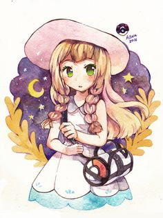 Lillie - Pokemon Sun and Moon by Pokemon Moon, Pokemon Fan Art, Mega Pokemon, Play Pokemon, Cute Pokemon, Anime Chibi, Images Kawaii, Manga, Pikachu