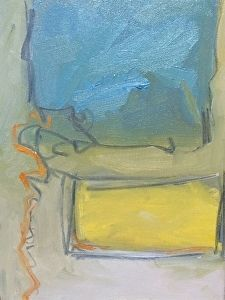 Abstract- Blue by Carolynn Thomas Jones in the FASO Daily Art Show