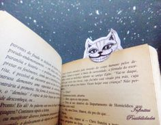 Marcador de livro - Cheshire - O gato de Alice