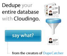 DupeCatcher (Put John out of a job! Data Quality, Nerd, Apps, Otaku, App, Geek, Appliques