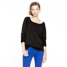 Casual cashmere by J.Crew.