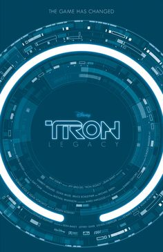 Tron: Legacy by Ollie Boyd  http://minimalmovieposters.tumblr.com/post/19743003742/tron-legacy-by-ollie-boyd  There's something about Tron font...