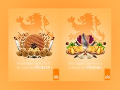 Dutch Poster:   Poster campaign in order to promote food from my country the Netherlands ! Such fun to create it !