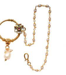 Buy Functional Golden Nose Ring For Women nose-ring online