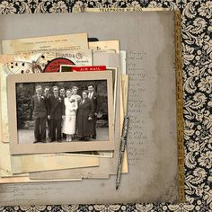 #scrapbook inspiration love this ancestry page :-)