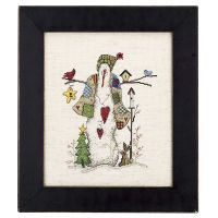 Quilt Snowman Counted Cross Stitch Kit